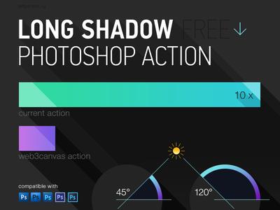 Long Shadow Photoshop Creator   PSDDude